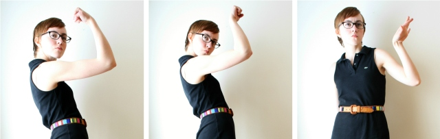 girl with arm muscles
