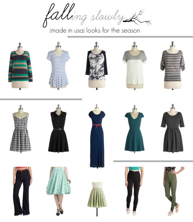 fall looks from modcloth