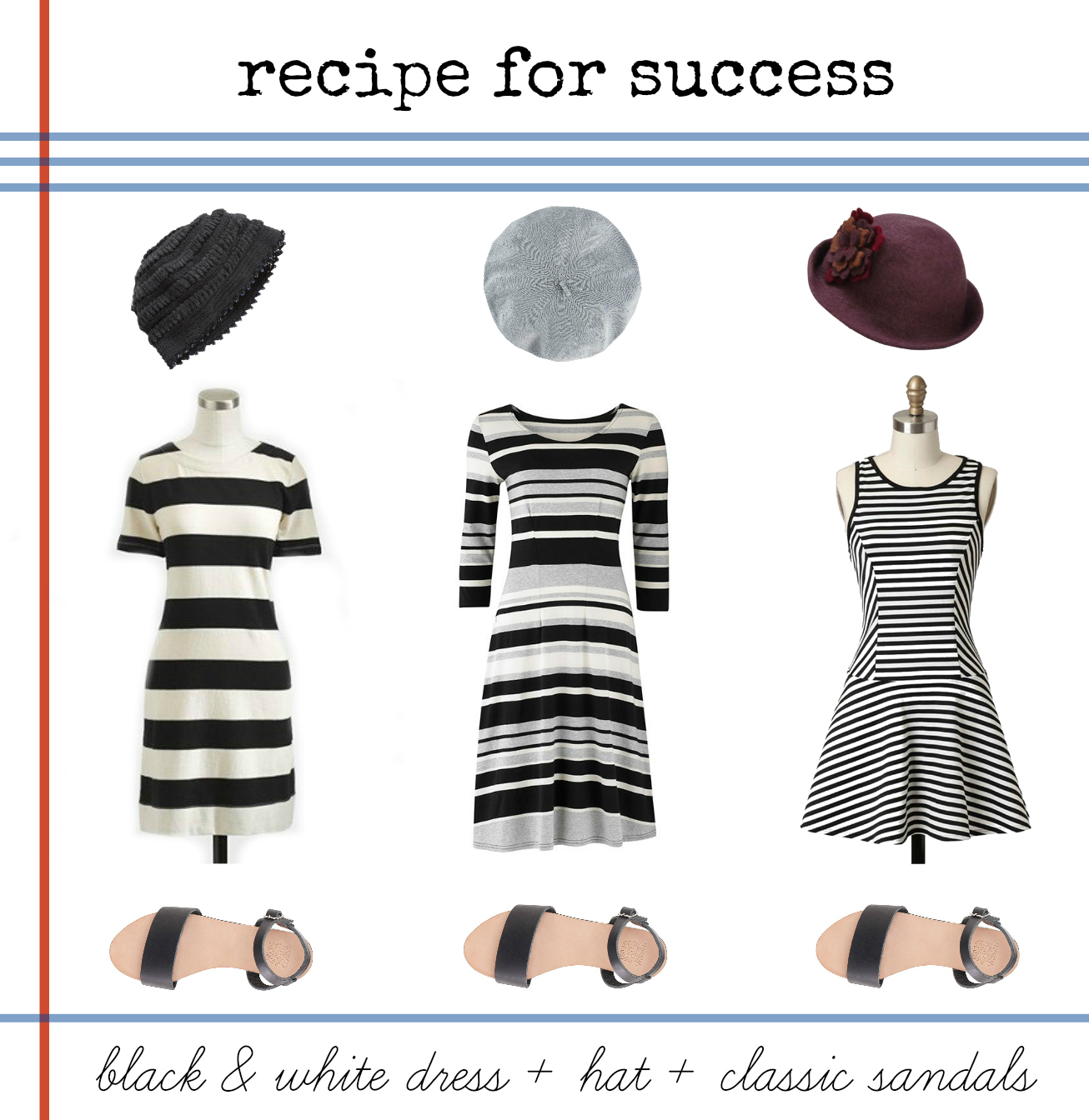 black and white dress style ideas