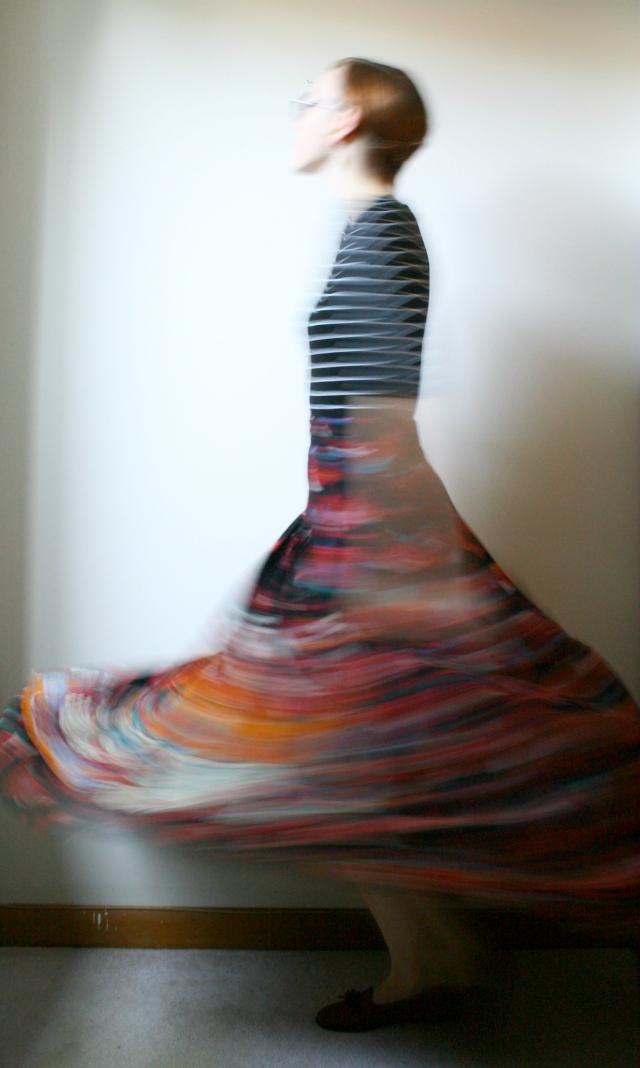 spinning skirt