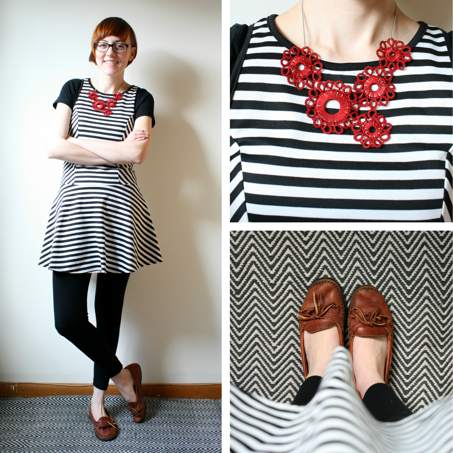 striped dress outfit inspiration