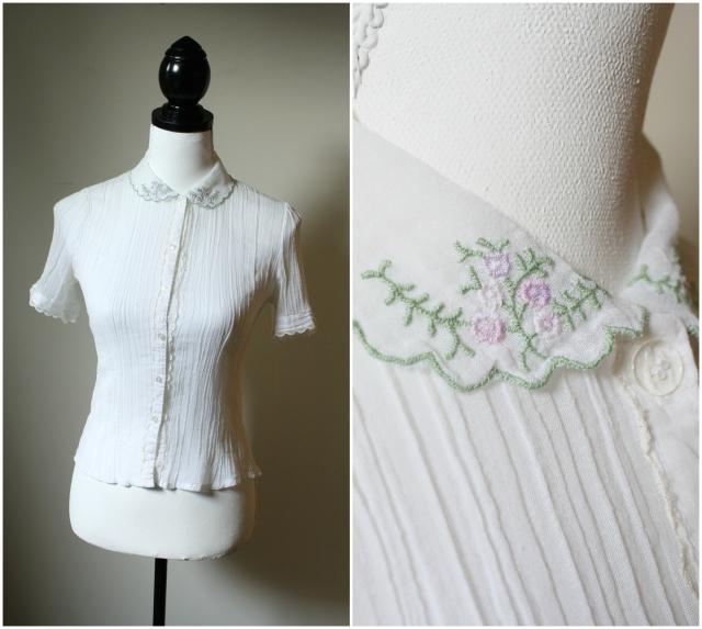vintage 50s blouse