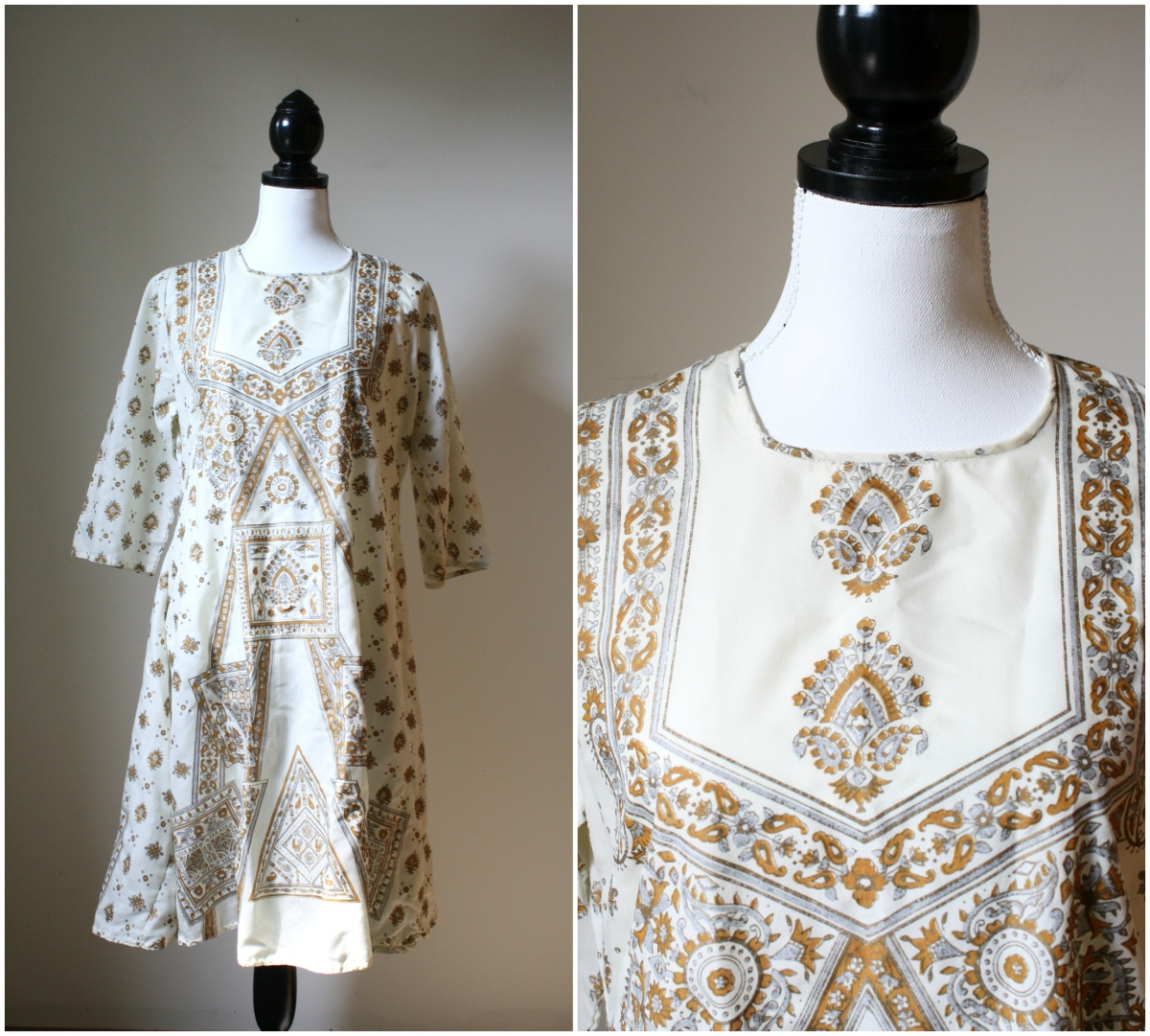 1970s hippie dress