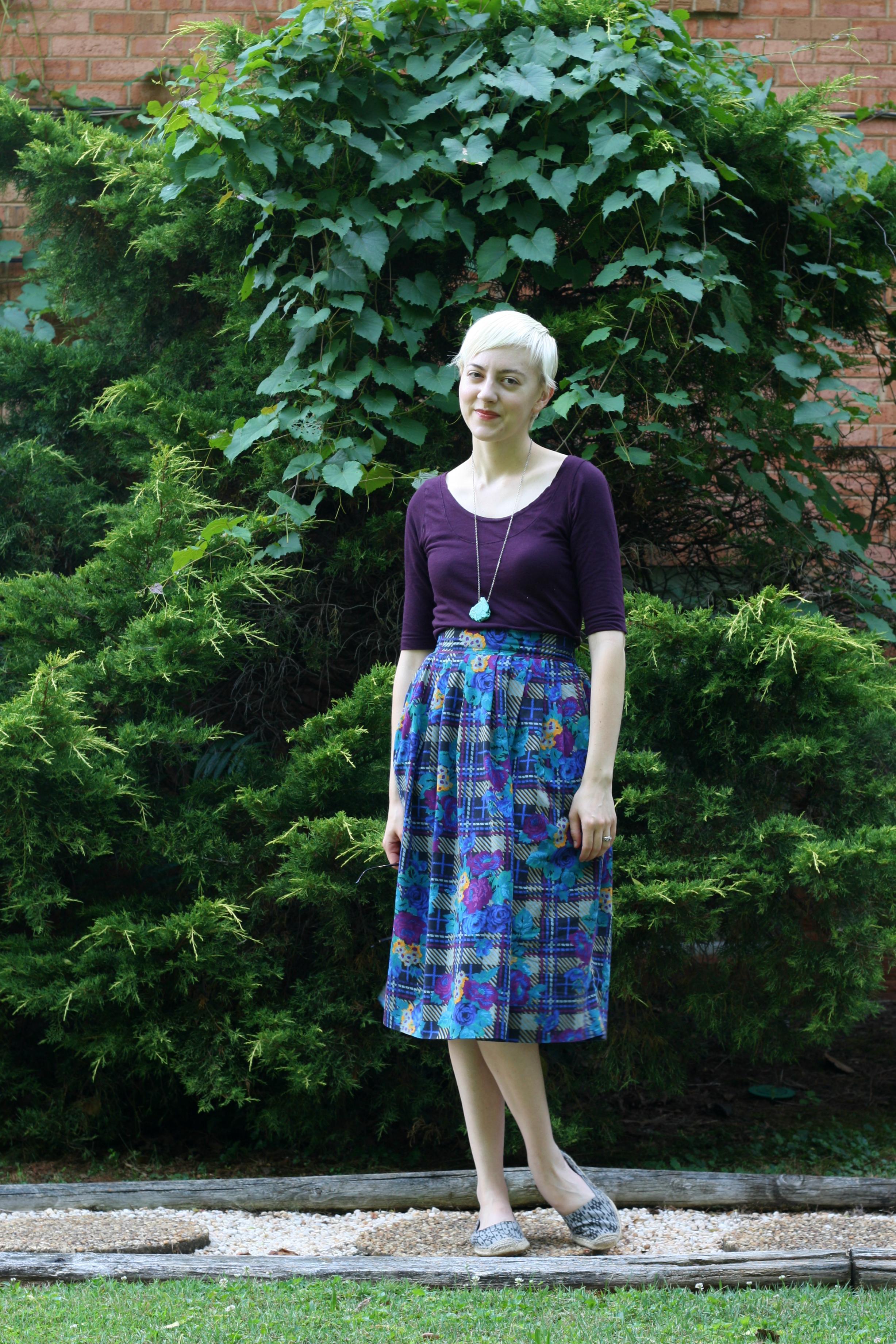 vintage midi skirt, stylewiseguide.com