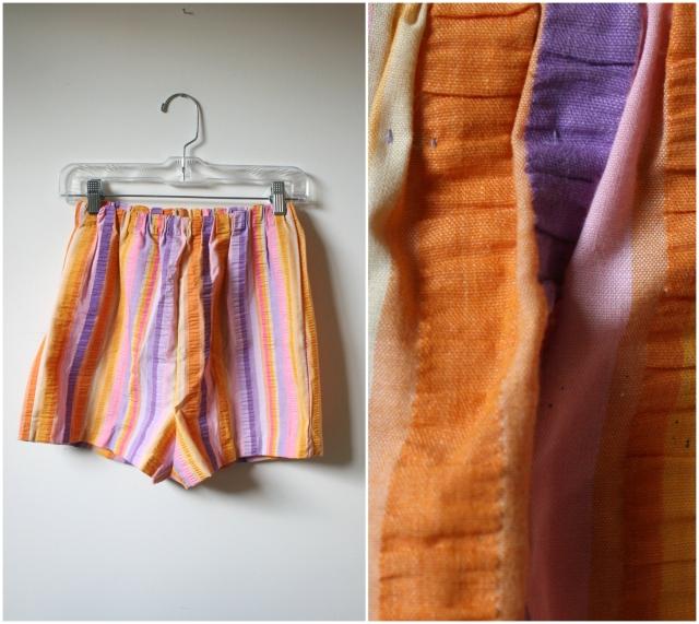 platinumandrust.com vintage seersucker short shorts